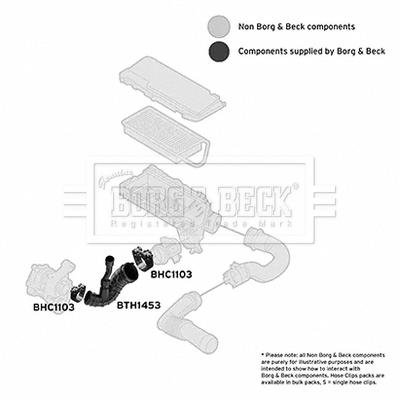 Freinage BORG & BECK BTH1453 (X1)