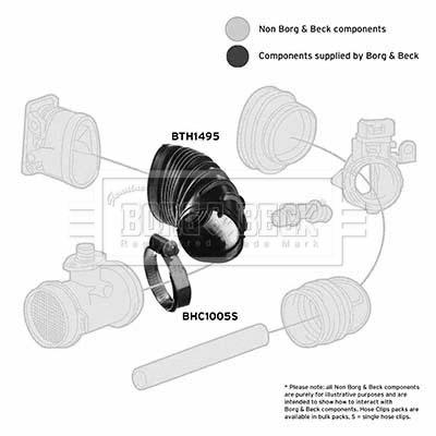 Tuyau d'aspiration, alimentation d'air BORG & BECK BTH1495 (X1)