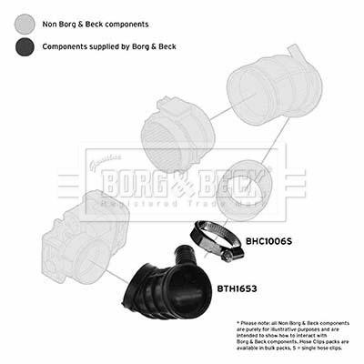 Tuyau d'aspiration, alimentation d'air BORG & BECK BTH1653 (X1)