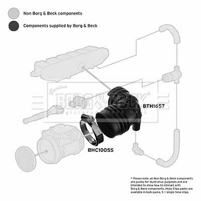 Tuyau d'aspiration, alimentation d'air BORG & BECK BTH1657 (X1)