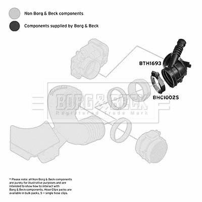 Tuyau d'aspiration, alimentation d'air BORG & BECK BTH1693 (X1)