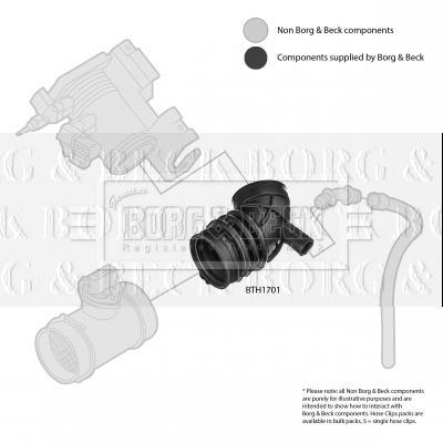 Tuyau d'aspiration, alimentation d'air BORG & BECK BTH1701 (X1)
