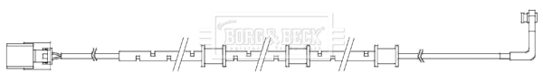 Temoin d'usure de frein BORG & BECK BWL3087 (X1)