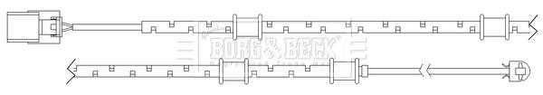 Temoin d'usure de frein BORG & BECK BWL3097 (X1)