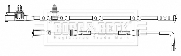 Temoin d'usure de frein BORG & BECK BWL3179 (X1)
