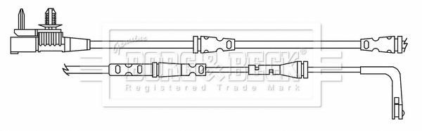 Temoin d'usure de frein BORG & BECK BWL3184 (X1)