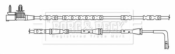 Temoin d'usure de frein BORG & BECK BWL3186 (X1)