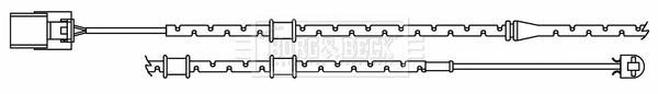 Temoin d'usure de frein BORG & BECK BWL3188 (X1)