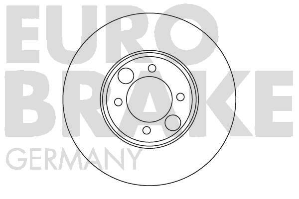 Disque de frein EUROBRAKE 5815201216 (X1)