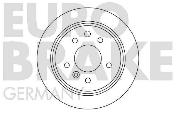 Disque de frein EUROBRAKE 5815201217 (X1)