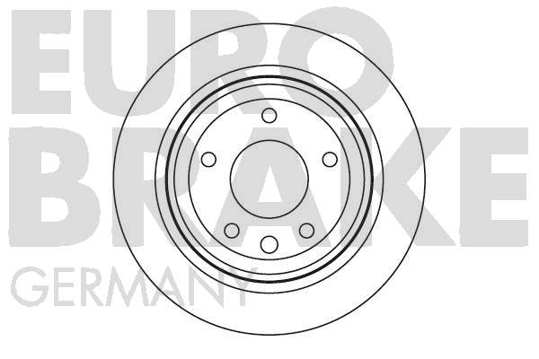 Disque de frein EUROBRAKE 5815201218 (Jeu de 2)