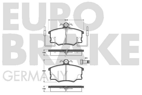 Plaquettes de frein EUROBRAKE 5502222327 (Jeu de 4)