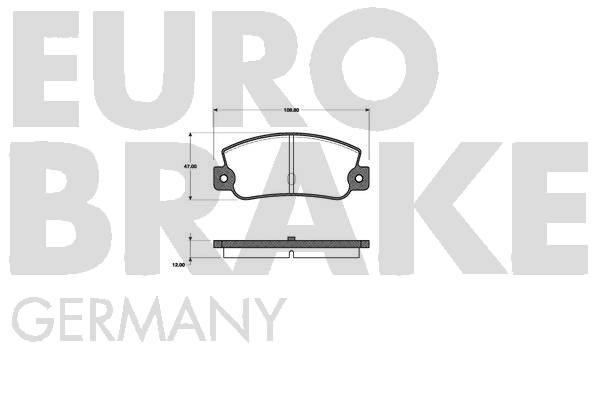Plaquettes de frein EUROBRAKE 5502222329 (Jeu de 4)