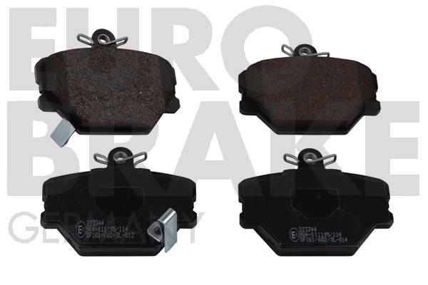 Plaquettes de frein avant EUROBRAKE 5502223344 (Jeu de 4)