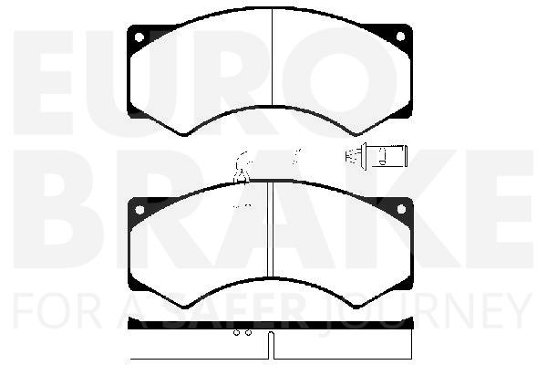 Plaquettes de frein avant EUROBRAKE 5502224015 (X1)