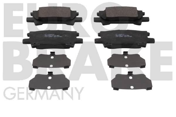 Kit de plaquettes de frein, frein à disque EUROBRAKE 55022245101 (X1)
