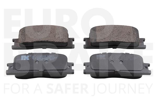 Kit de plaquettes de frein, frein à disque EUROBRAKE 55022245109 (X1)
