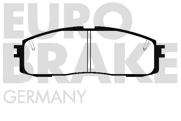Kit de plaquettes de frein, frein à disque EUROBRAKE 5502224521 (Jeu de 4)