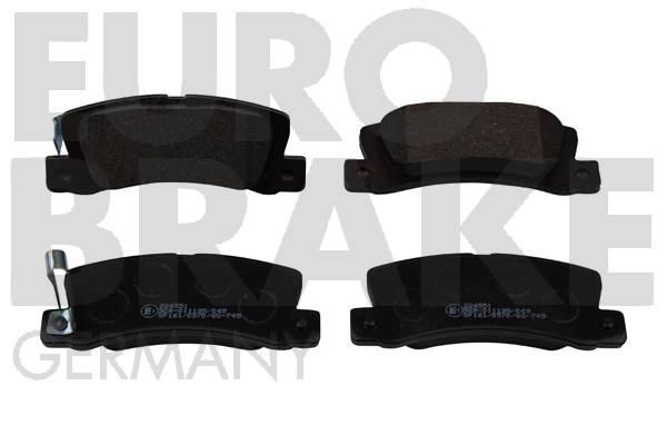Kit de plaquettes de frein, frein à disque EUROBRAKE 5502224551 (Jeu de 4)