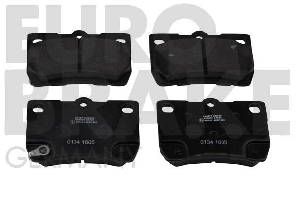 Kit de plaquettes de frein, frein à disque EUROBRAKE 5502224574 (Jeu de 4)