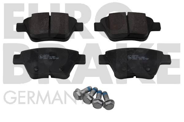 Plaquettes de frein arriere EUROBRAKE 55022247101 (Jeu de 4)