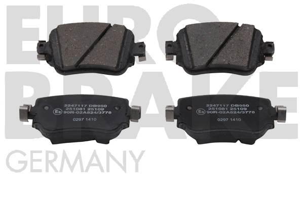 Plaquettes de frein arriere EUROBRAKE 55022247117 (Jeu de 4)