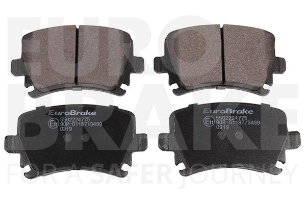Plaquettes de frein arriere EUROBRAKE 5502224775 (Jeu de 4)