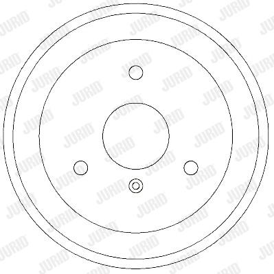 Tambour de frein arriere JURID 329263J (X1)