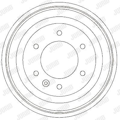 Tambour de frein arriere JURID 329300J (X1)