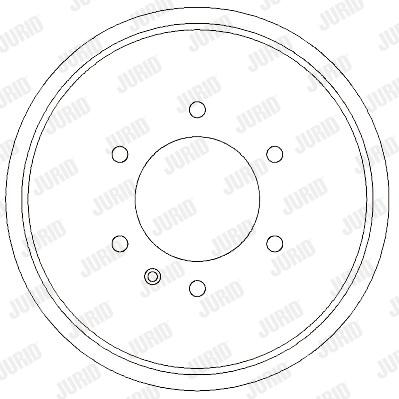 Tambour de frein arriere JURID 329301J (X1)