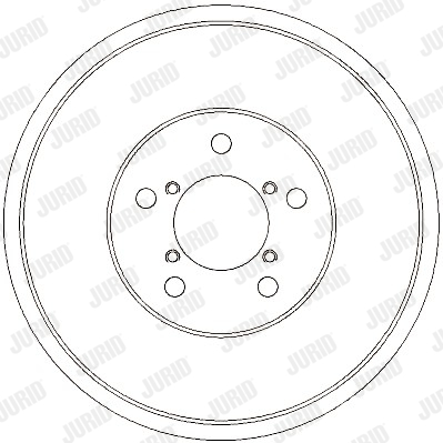 Tambour de frein arriere JURID 329314J (X1)
