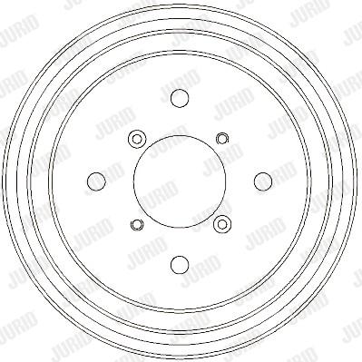 Tambour de frein arriere JURID 329329J (X1)