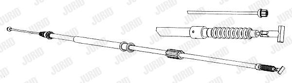 Cable de frein à main JURID 431365J (X1)