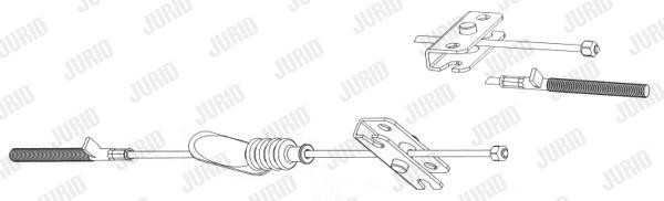 Cable de frein à main JURID 432800J (X1)