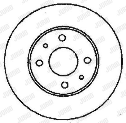 Disque de frein JURID 561380J (Jeu de 2)