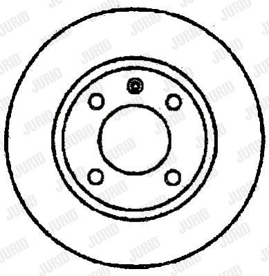 Disque de frein avant JURID 561414J (Jeu de 2)