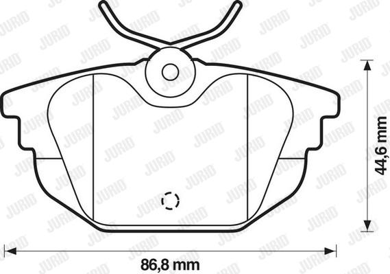 Plaquettes de frein arriere JURID 571979D (Jeu de 4)
