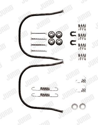 Kit de montage machoires de frein JURID 771078J (X1)