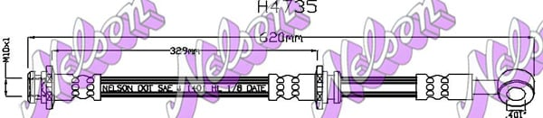 Flexible de frein BROVEX-NELSON H4735 (X1)