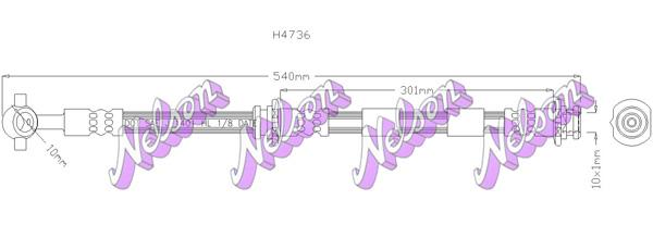 Flexible de frein BROVEX-NELSON H4736 (X1)