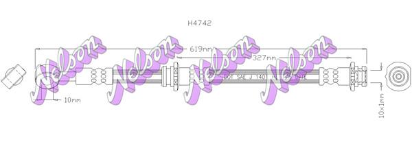 Flexible de frein BROVEX-NELSON H4742 (X1)