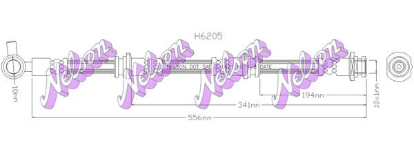 Flexible de frein BROVEX-NELSON H6205 (X1)