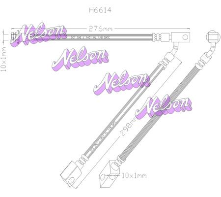 Flexible de frein BROVEX-NELSON H6614 (X1)