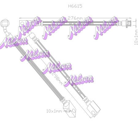 Flexible de frein BROVEX-NELSON H6615 (X1)