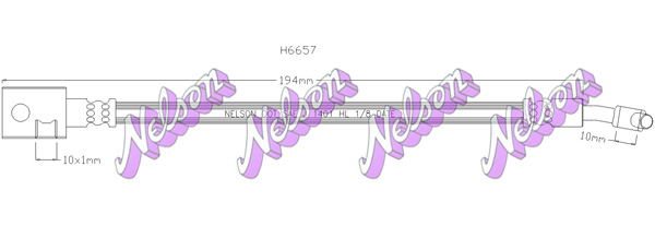 Flexible de frein BROVEX-NELSON H6657 (X1)