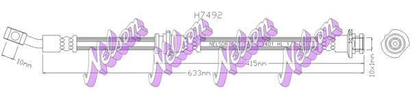 Flexible de frein BROVEX-NELSON H7492 (X1)