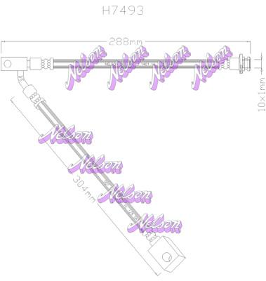 Flexible de frein BROVEX-NELSON H7493 (X1)