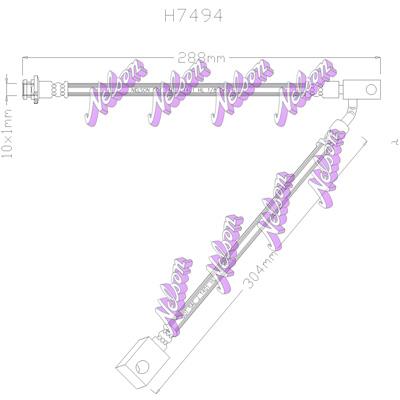 Flexible de frein BROVEX-NELSON H7494 (X1)