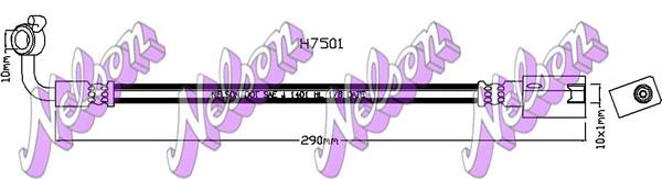 Flexible de frein BROVEX-NELSON H7501 (X1)