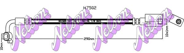 Flexible de frein BROVEX-NELSON H7502 (X1)